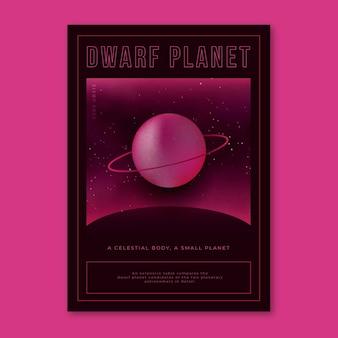 Poster di pianeta nano e concetto celeste degli anni 2000