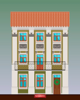 Dwelling house in classicism style.