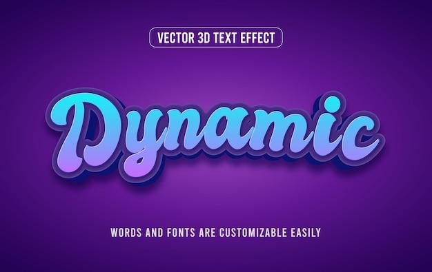 동적 3d 편집 가능한 텍스트 효과 스타일