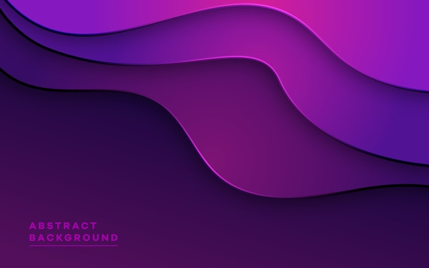 Dynamic abstract background gradient wavy shape