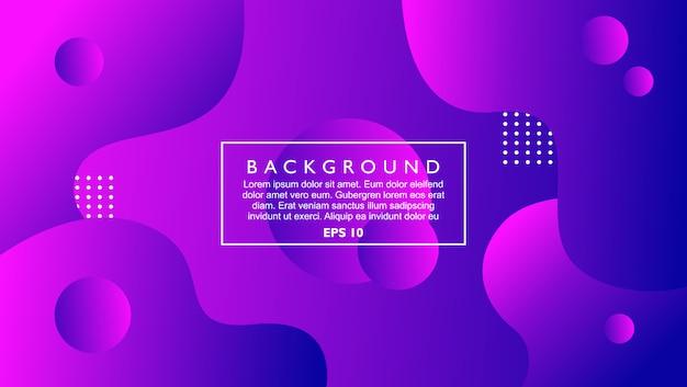Динамический абстрактный фон шаблона с жидкостью и формы круга. фиолетовый цвет с современным стилем