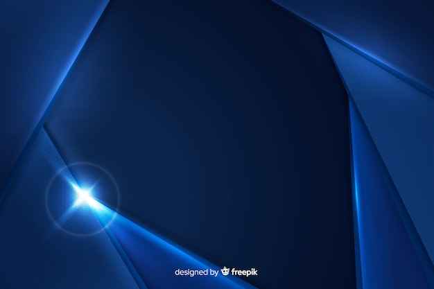 Dynamic abstract blue metallic background