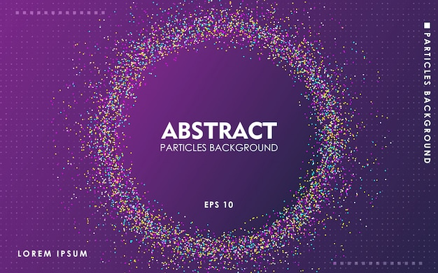Dynamic abstract color particles background