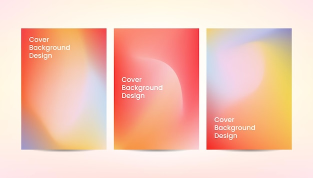 Dynamic abstract gradient colorful cover background design.