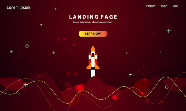 Dynamic abstract landing page template