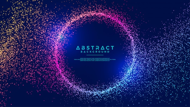 Dynamic abstract liquid circle particles background.