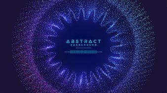 動的抽象液流粒子の背景。