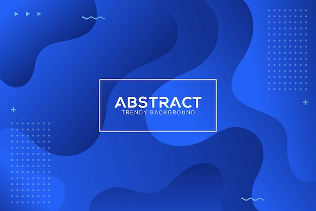 Dynamic abstract liquid trendy blue gradation background