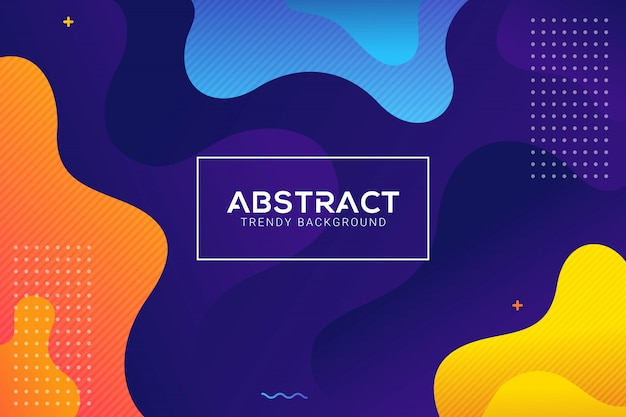 Dynamic abstract liquid trendy color gradation background