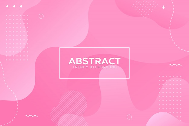 Dynamic abstract liquid trendy pink color gradation background