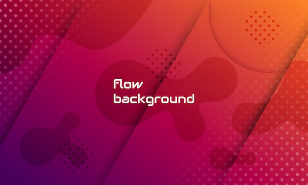 Dynamic abstract shape composition, 3d background concept