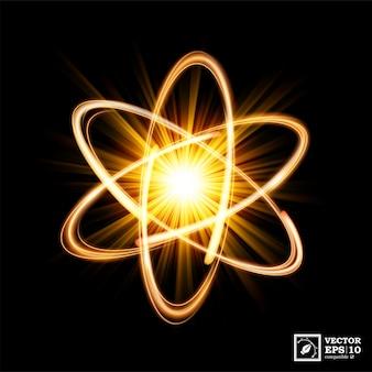 동적 원자 빛 폭발