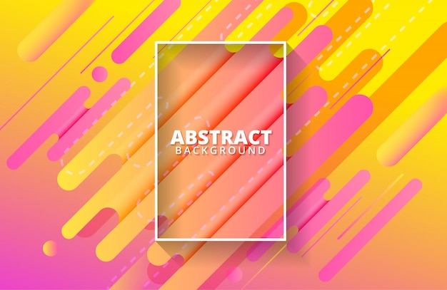 Dynamic background with abstract shapes composition