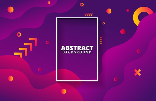 Dynamic background with geometric shapes composition