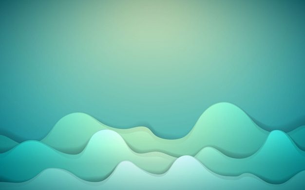 Dynamic background with green fluid shape
