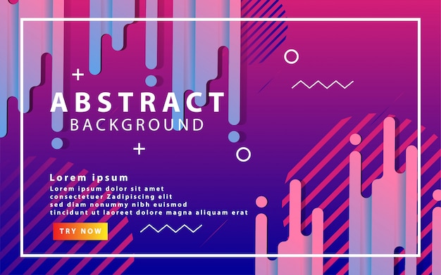 Dynamic background with liquid shape blue and purple gradient
