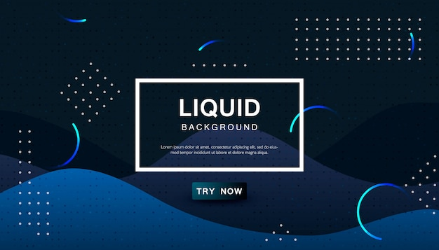Dynamic blue abstract wavy background