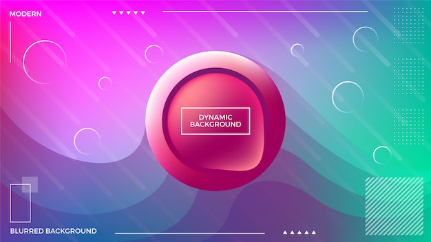 Dynamic blurred multicolor background