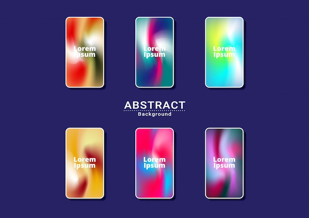 Dynamic bright multicolor background