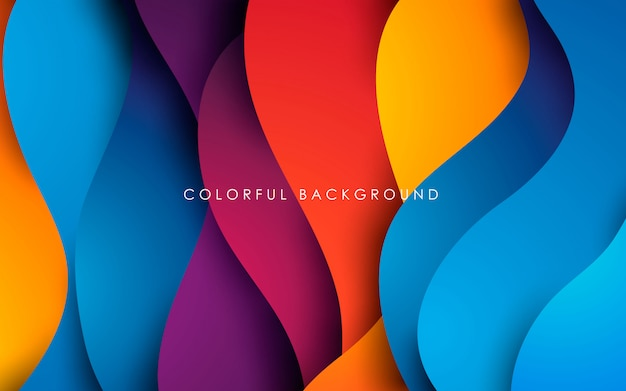 Dynamic color fluid shape background