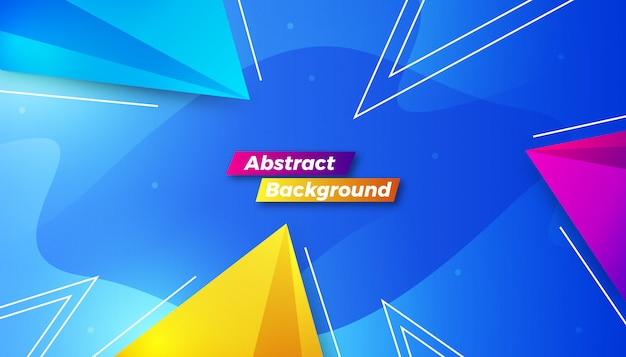 Dynamic colorful abstract background