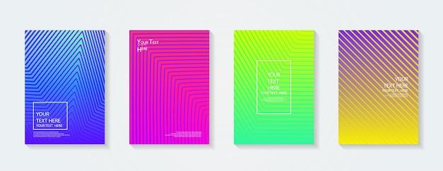 동적 다채로운 그라디언트 미래의 기하학적 패턴 색상 전체 현수막 포스터 템플릿