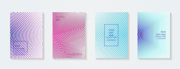 Динамические красочные градиенты будущие геометрические узоры цвета полный плакат шаблон плаката
