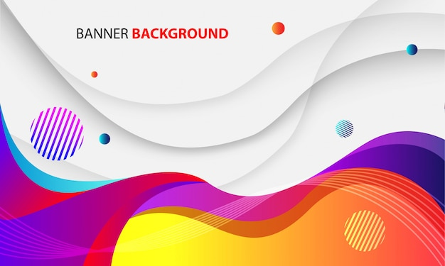 Dynamic colorful wave background
