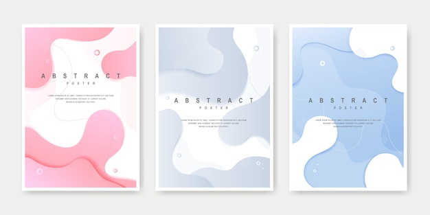 Dynamic creative fluid style cover set.
