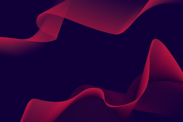Dynamic dark wavy background