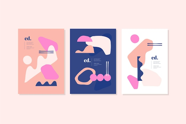 Dynamic flat design geometrical covers collection