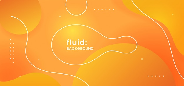 Dynamic fluid liquid shape modern style abstract background