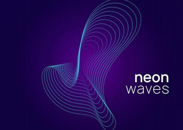 Динамическая плавная форма и линия. электронный звук.