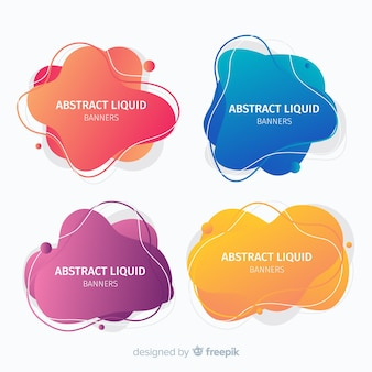 Dynamic fluid shapes banner