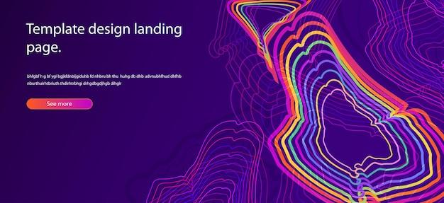포스터 또는 웹 페이지 템플릿 미래 기술에 대한 동적 기하학적 배경 큐브 패턴