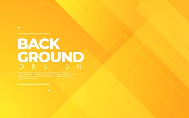Динамический геометрический. оранжевый цвет в 3d стиле