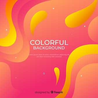 Dynamic gradient shapes background