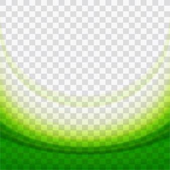 Dynamic green wavy shapes