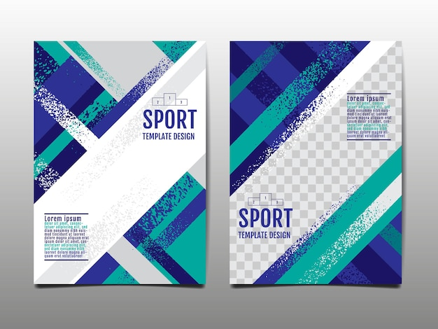 Dynamic grunge sport background set abstract