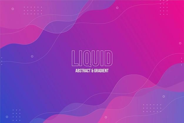 Sfondo liquido dinamico in gradiente