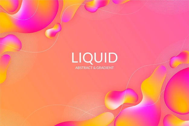Dynamic liquid background in gradient