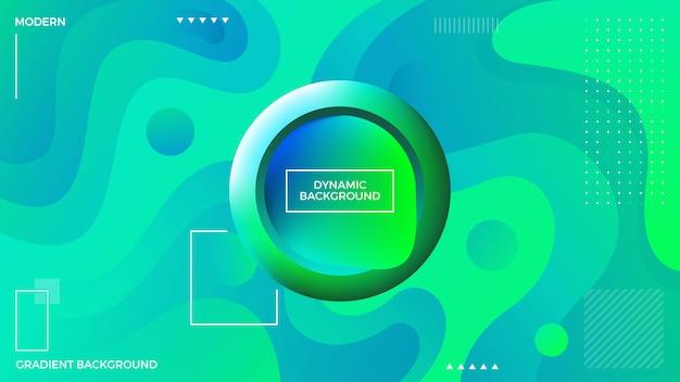 Dynamic liquid green background