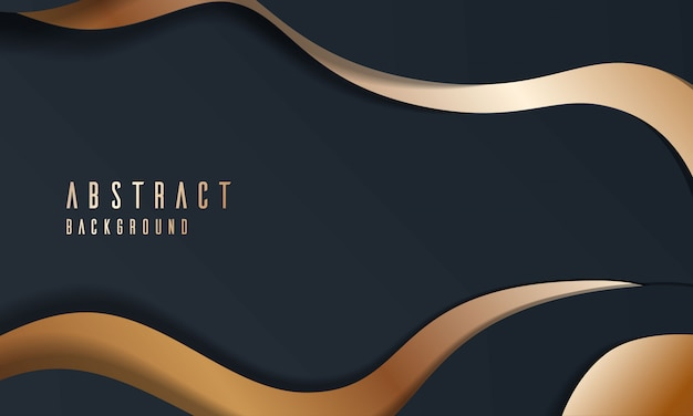 Dynamic luxury modern abstract background