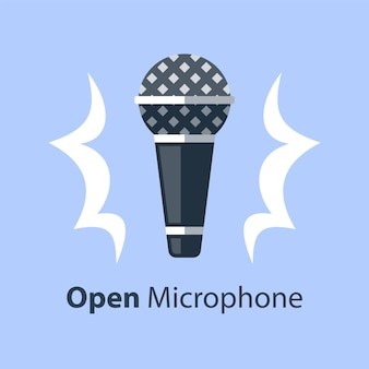 ダイナミックマイク、オープンマイクコメディスタンドアップ、パフォーマンスイベント