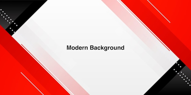 Dynamic modern red shape on white background