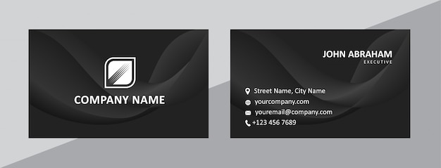 Dynamic natural black business card template