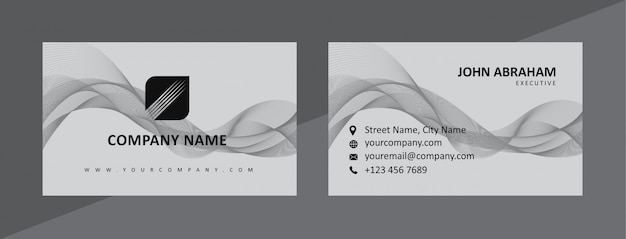 Dynamic natural black & gray business card template