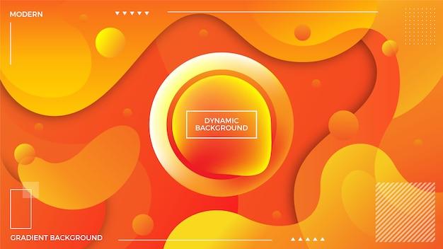 Dynamic orange background