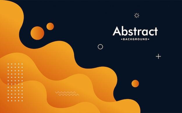 3dスタイルのダイナミックオレンジテクスチャ背景デザイン。