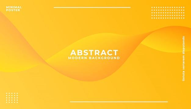 Dynamic orange vibrant wave background